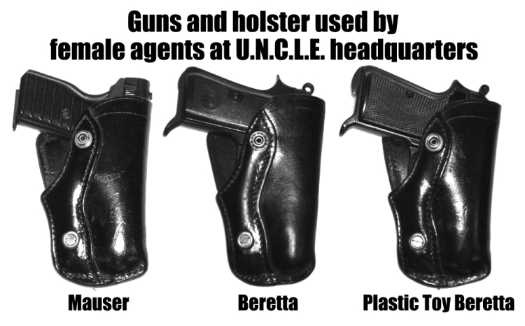 Holster and guns used by females at UNCLE headquarters